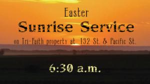 Easter Sunrise Service | Countryside Community Church