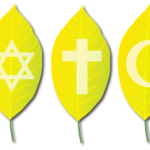 three leaves in middle w faith symbols